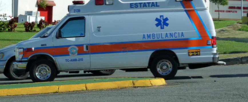 Con heridas graves un motociclista que se accidentó en Barceloneta