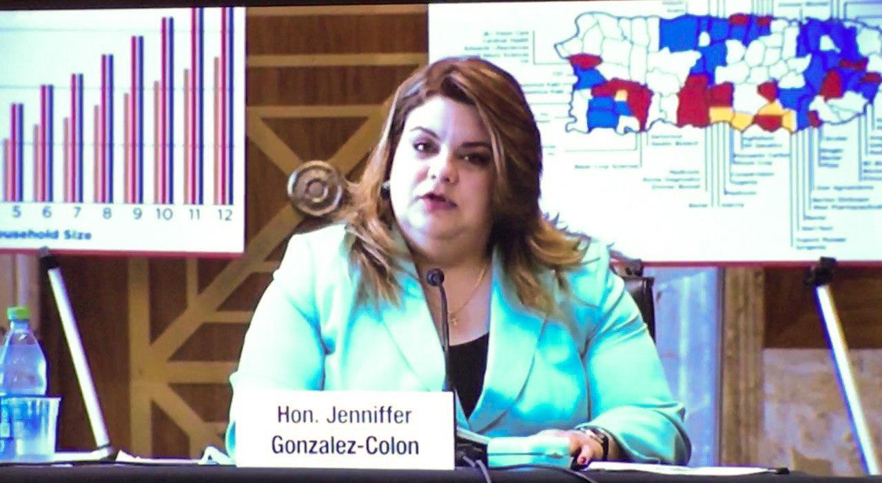 Jenniffer González aboga ante el Senado federal por recursos para combatir el COVID-19 y promover el desarrollo económico de Puerto Rico