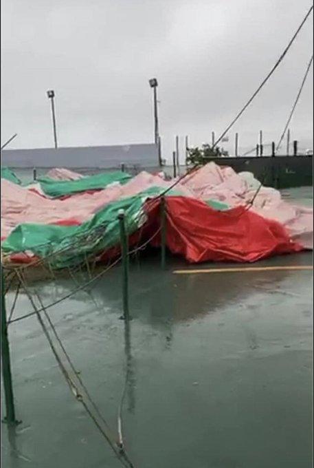 Globo de Jayuya queda destruido por el viento de la tormenta Isaías