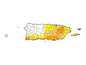 Se reduce la intensidad de la sequía en Puerto Rico