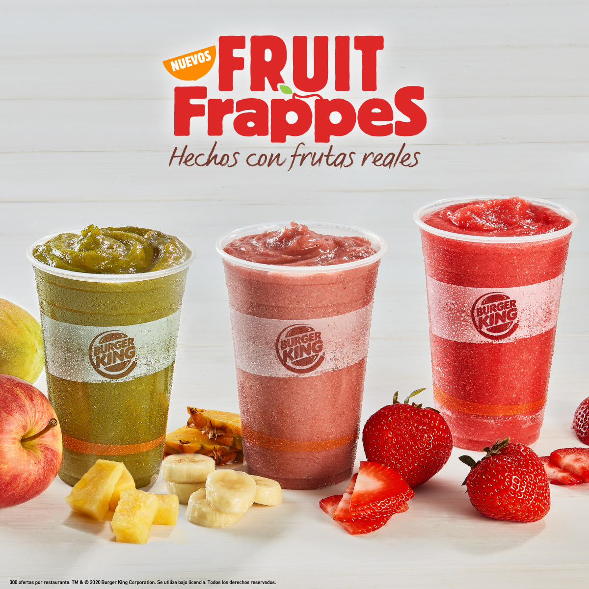 Nuevos Fruit Frappes en Burger King