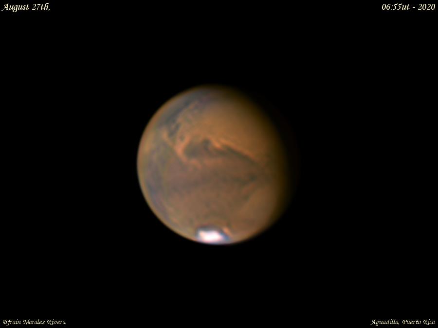 Captan desde la Isla el notable acercamiento del planeta Marte