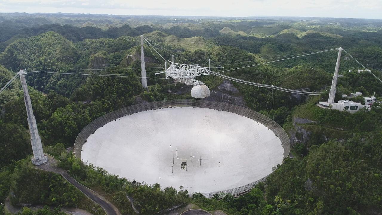 Progresan los trabajos para reparar los daños en el Observatorio de Arecibo