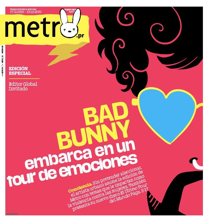 Bad Bunny se convierte en editor global de Metro como parte de la promoción de su nuevo álbum