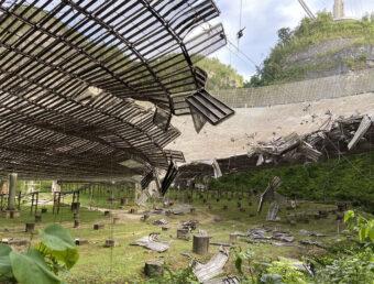 Otro fallo en un cable en el Observatorio de Arecibo causa un colapso en el área del plato (Ampliación)