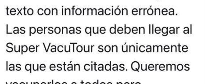 Aviso: Es falsa información sobre Vacotour