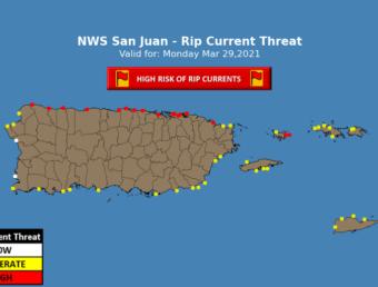 Sigue el riesgo de corrientes marinas peligrosas durante este lunes, 29 de marzo de 2021