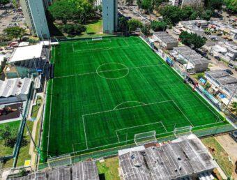 Vivienda Pública remodela parque de fútbol de Academia Quintana