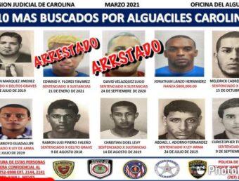 Policía arresta al más buscado por alguaciles de Carolina