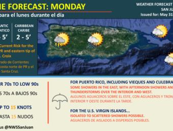 Resumen del estado del tiempo para el lunes, 31 de mayo de 2021