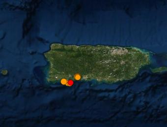 Red Sísmica reportó esta madrugada un temblor de magnitud 4.2 que fue sentido en varios pueblos de Puerto Rico