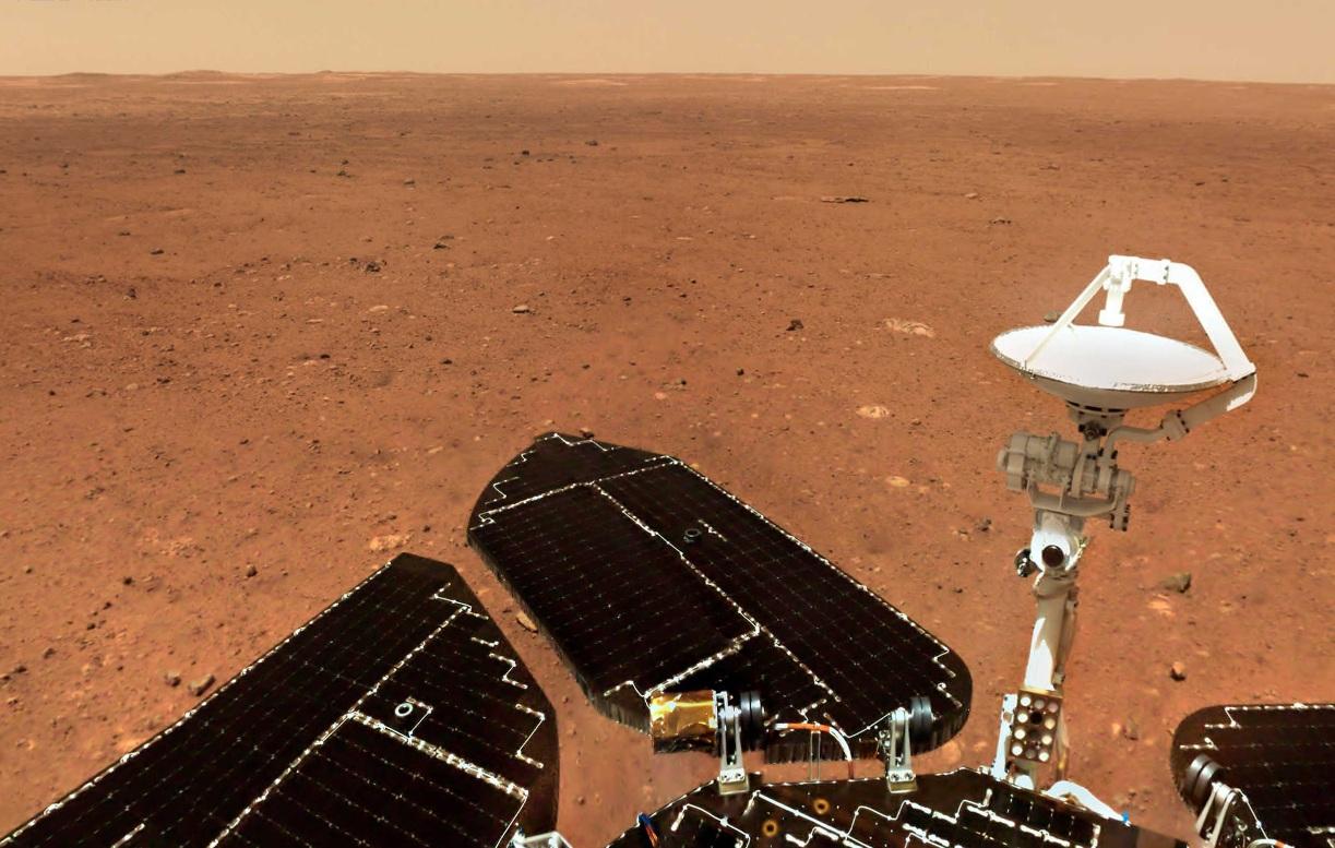 China revela nuevas imágenes de la superficie de Marte
