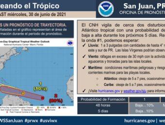 Meteorología orienta sobre las ondas tropicales que se acercan a Puerto Rico