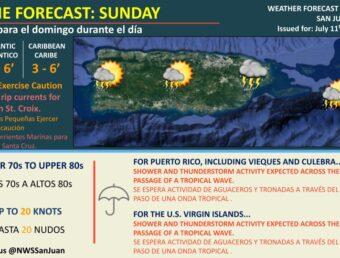 Resumen del estado del tiempo para el domingo, 11 de julio de 2021