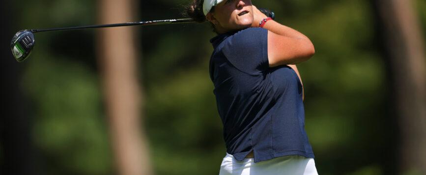 María Fernanda reajusta el juego en la continuación del torneo de golf olímpico